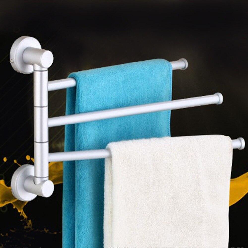 Aliexpress.com : Buy Wall Mounted Aluminum Bath Towel Holder Swivel ...