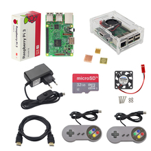 Cheap price Raspberry Pi 3 Starter Game Kit + Gamepad + Case + 16G 32G SD Card + Power Adapter + Fan + Heat Sink + HDMI Cable for Retropie