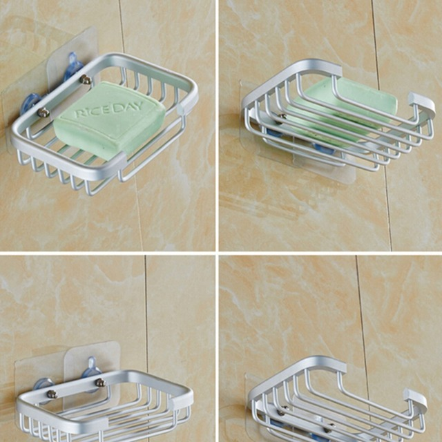 Whole Low Price Convenient Stainless Steel Convinient Wall Mounted Bathroom Shower Soap Holder Storage