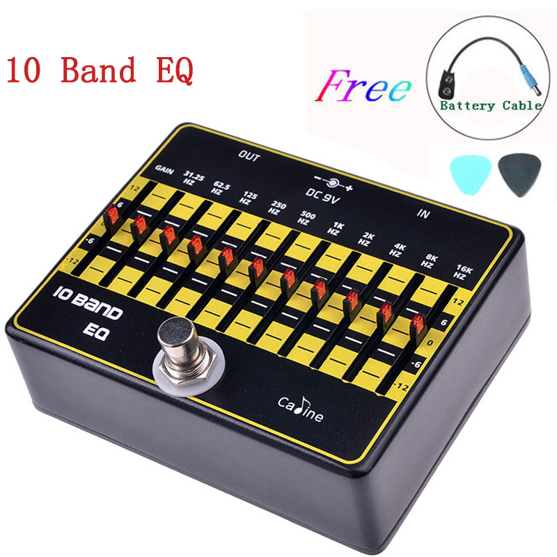 цена на Caline CP-24 10-Band EQ Guitar Effect Pedal Effect True Bypass Guitar Pedals Accessories Aluminium Alloy Guitar Parts