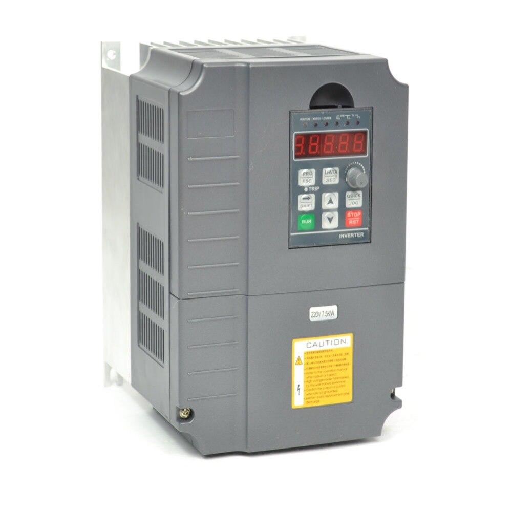 Convertisseur de fréquence 7.5KW vfd inverseur contrôleur de vitesse de moteur 10HP 3 phase 34A de qualité supérieure