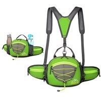 Outdoor-Sport Hüfttasche Tasche Mini Camping Rucksack Wasserdichte Nylon Klettern Taschen Doppel Wasserkocher Taschen Flaschenhalter
