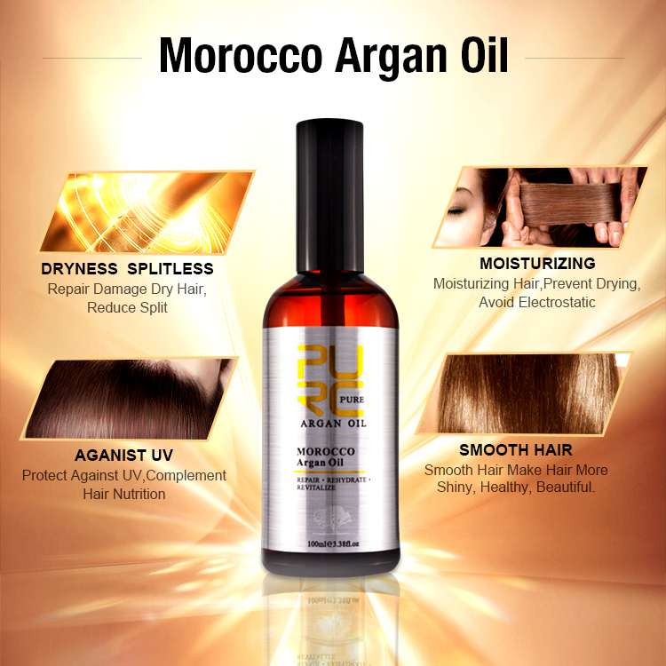 PURC Moroccan Argan Oil 100ml for Repairs Damage Hair Moisturizing Hair nourishing for after Keratin Treatment Hair Oil 3
