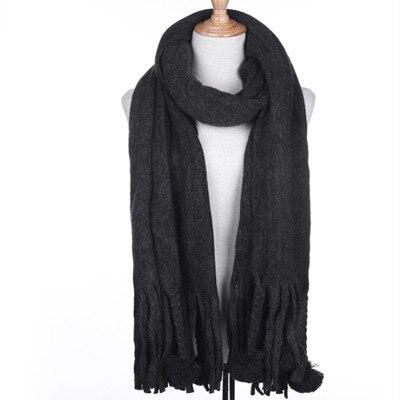 C007 осень зима кашемировый шарф теплые однотонные женские 2018