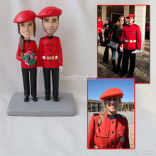 two people Airline stewardess figurines custom bobblehead company by Turui Figurines personalized sculpture hand crafed