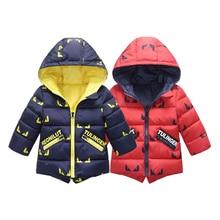 Hiver Nouvelle Vente Épais vers le bas Enfants Vêtements Chaud Coton Veste Enfants Veste De Noël Garçons Filles casaco infantil Manteaux À Capuchon