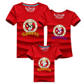 1pc Mother And Baby Matching Outfits 2016 Fashion Sport Cute Cartoon Mom Father Son T-shirts Family Look Girl Son Mother Clothes