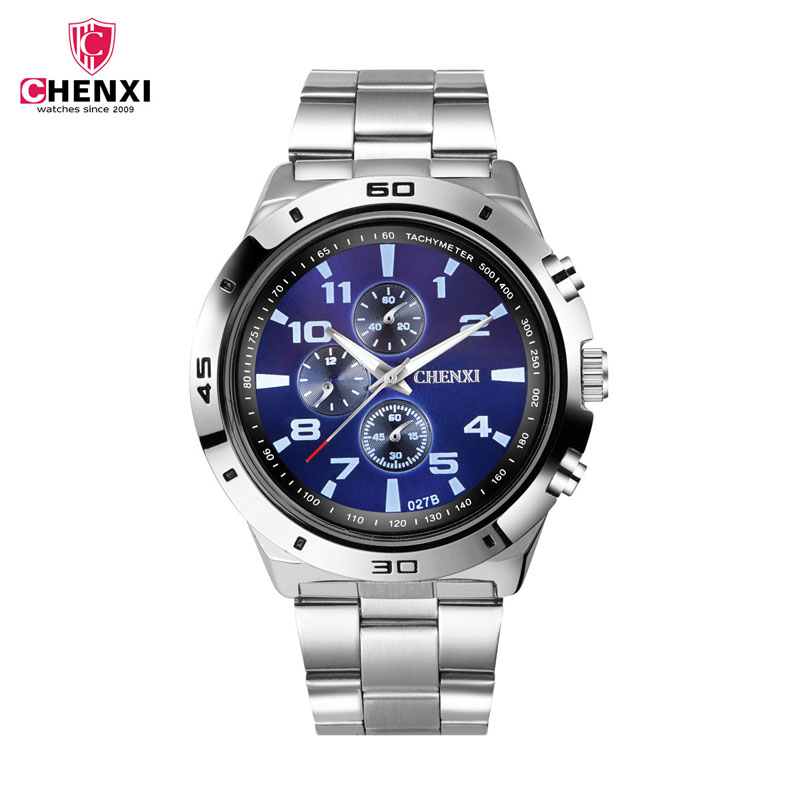 CHENXI Watches Men Quartz Stainless-Steel Top-Brand Luxury For Man Gift Relogio Masculino