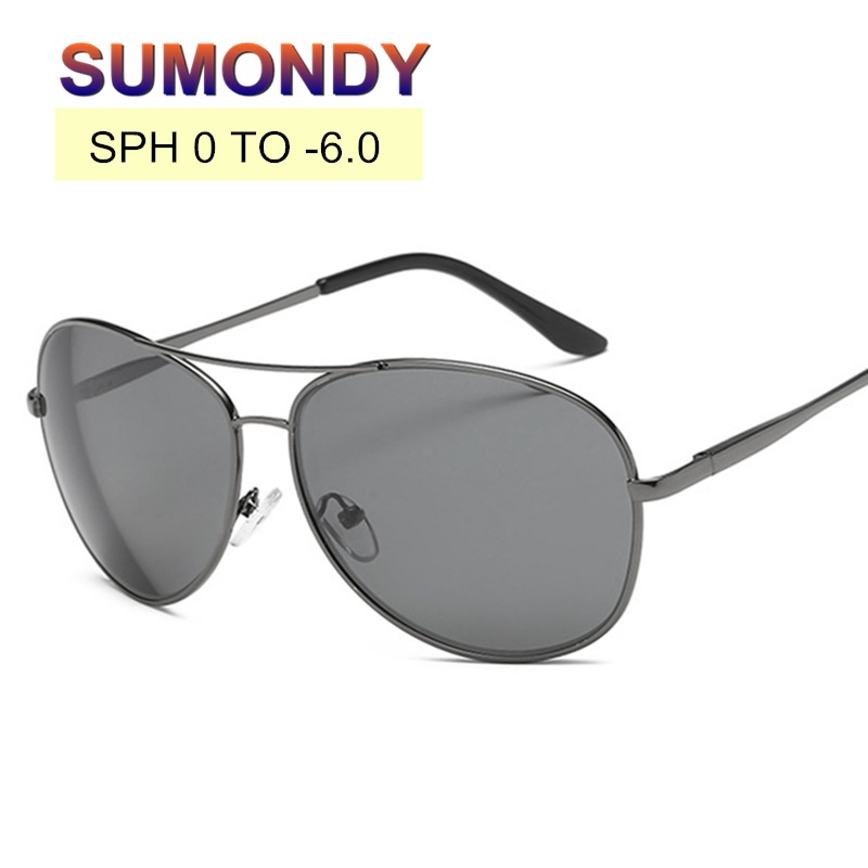 SPH 0.5 TO 6 Finished Myopia Sunglasses With Nearsighted