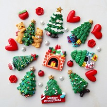 Рождественская елка подарок на год аксессуары для украшения дома на магните на холодильник, для заметок Стикеры на кухню Настенный декор магниты на холодильник