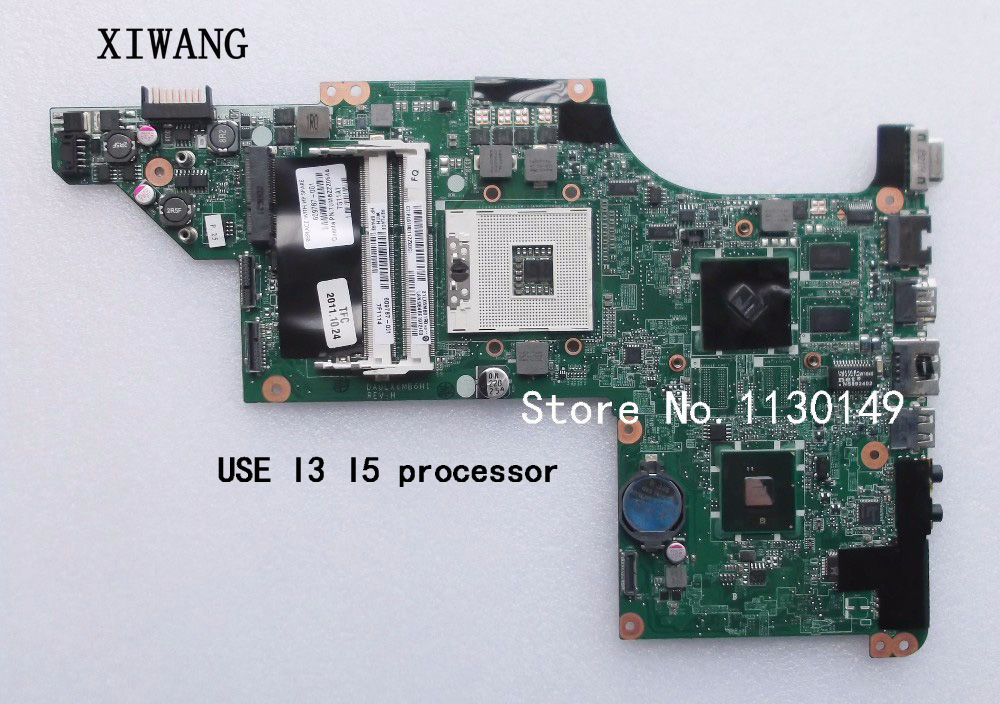 609787-001 Free Shipping laptop motherboard for hp pavilion DV7T DV7-4000 hm55 ATI ATI HD5470/512 ddr3 DA0LX6MB6F2 DA0LX6MB6H1 nokotion 646176 001 laptop motherboard for hp cq43 intel hm55 ati hd 6370 ddr3 mainboard full tested