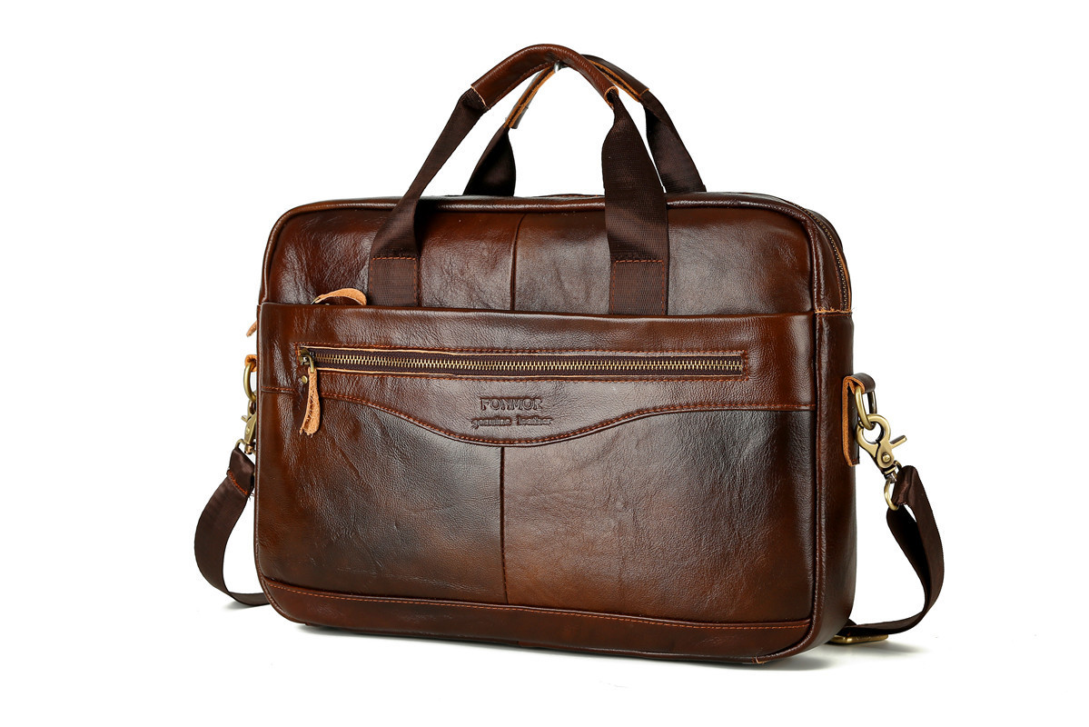 HTB1LtHpX.zrK1RjSspmq6AOdFXa6 Cowhide Leather Briefcase Mens Genuine Leather Handbags Crossbody Bags Men's High Quality Luxury Business Messenger Bags Laptop