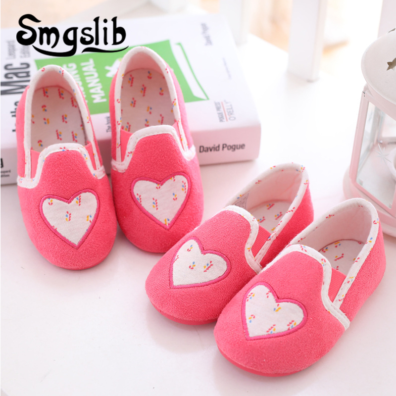 Girls Home Slippers Kids Home Shoes Girls Fashion Casual Warm Flat Heels Sneaker 2019 Winter Comfortable Children Pink Slippers