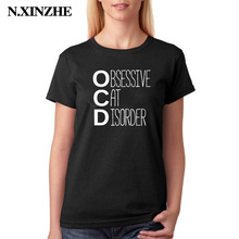 3831b32c N.XINZHE Obsessive Disorder T Shirt Cat Animal Lovers Kitten Owner Clothing  Funny