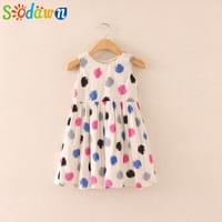 Sodawn Lovely Rainbow Dots Girls Dress Princess Dress Girls Clothes Children Clothing Summer Baby Girls Clothes