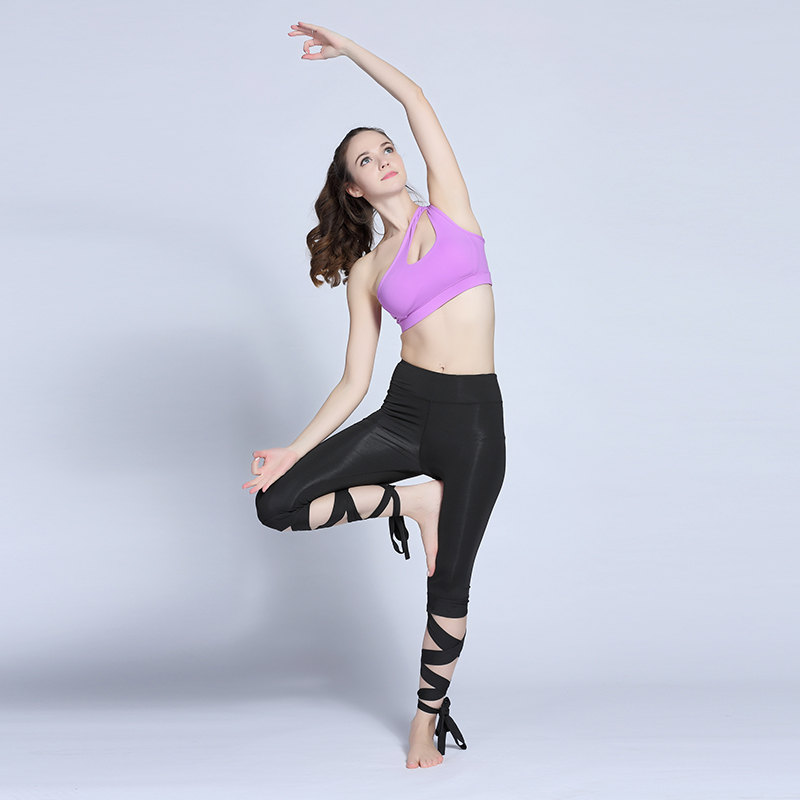 0c571c97d0 Yoga Pants Women Cross Tights Sport Fitness Running Workout Leggings Quick  Dry Elastic Dance Pants Cutout Tie Cuff-in Yoga Pants from Sports &  Entertainment ...