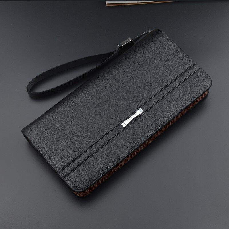 2018 New Fashion Men Wallets Leather Long Clutch Purse Zipper & Hasp Men Walet Luxury Brand Money Bag High capacity Coin Purse