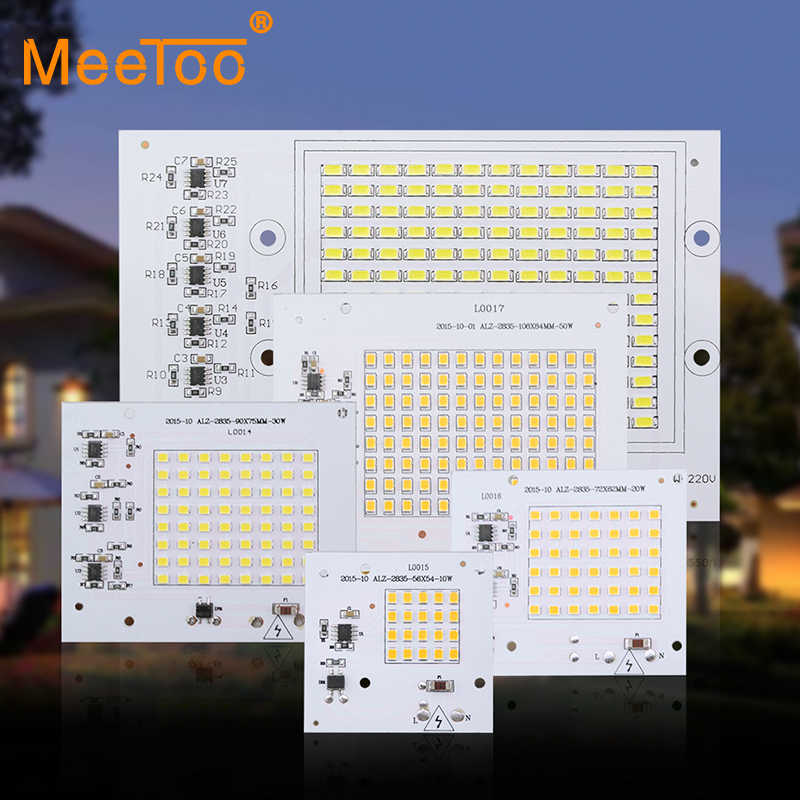 Epistar Smart IC Chip SMD 2835 Led Bulb 10W 20W 30W 50W 90 Full Power Lighting For COB Floodlight DIY Light 220V 230V 240V