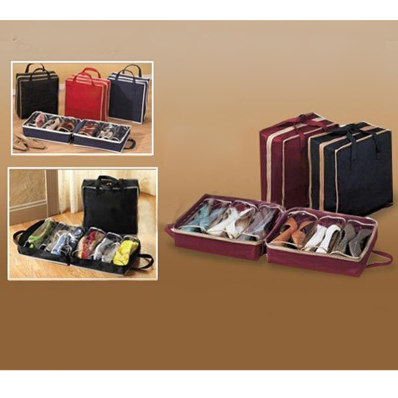 2017 Women Men Shoe Storage Bags Travel Waterproof Ventilation Folding Shoes Organizer Portable Closet Box Mp211 In Bo Bins From Home