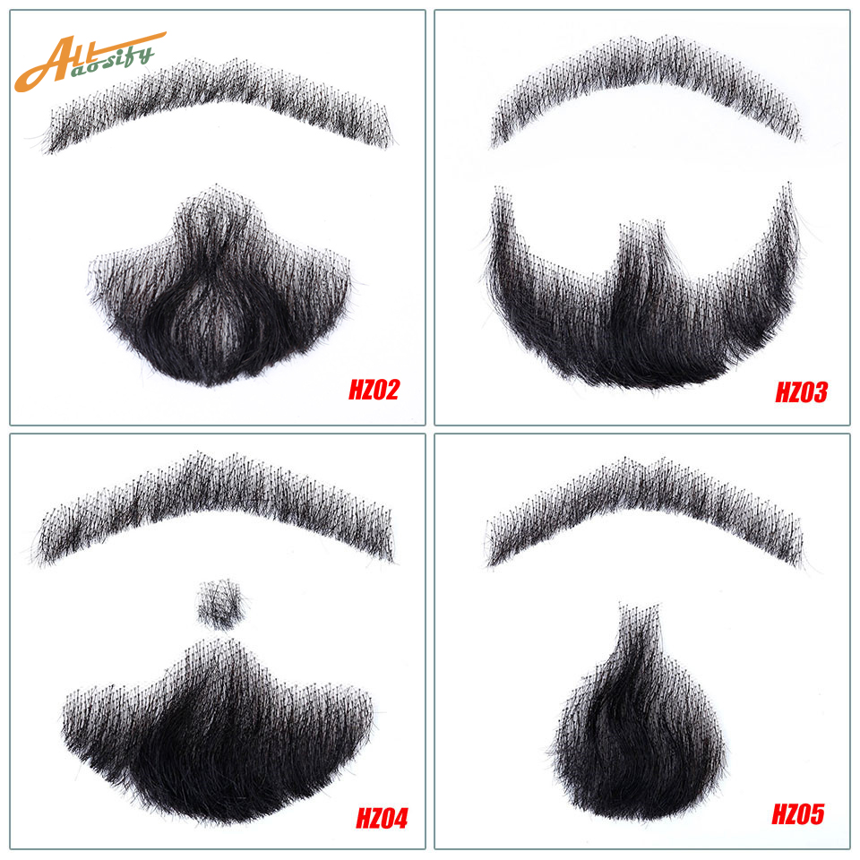 Allaosify Beard-Props Weave Mustache Simulation-Beard Make-Up Videos Invisible Or Men's