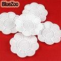 BlueZoo Новый 10 шт./упак. Белый Nail Art Палитра Цветочного Дизайна Для Живопись Рисунок Paletee Искусство