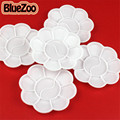 BlueZoo New 10pcs/pack White Nail Art Palette Flower Design For Painting Drawing Paletee Art