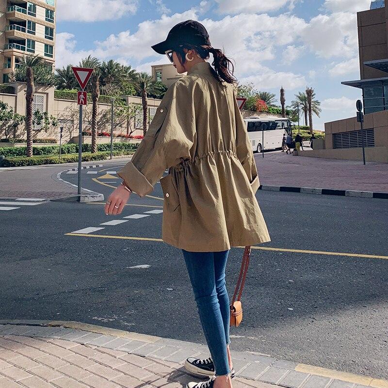 Khaki Sottile A Primavera Del Sezione Casuale E Bicchierino Nuova Giacca 2019 Signore Delle Modo Vento Di Cappotto Corta Donna Allentato Autunno RzOgWq