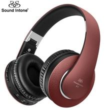 Sound Intone P1 Наушники Bluetooth Версии 4.0 Беспроводная Гарнитура шокирующие бас Наушников С Микрофоном Громкой Связи Звонки