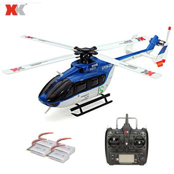 XK K124 2.4G 6CH Brushless EC145 3D6G System RC Helicopter 4PCS 3.7V 700mAh Lipo Battery Version Compatible