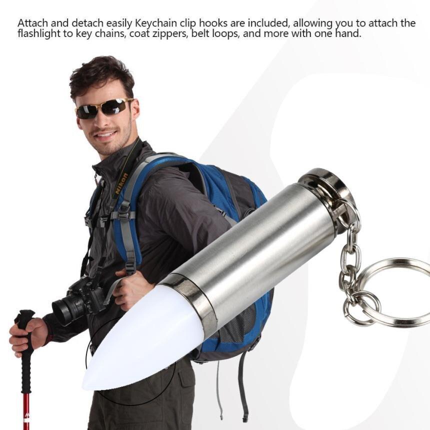 High quality Practical Mini Key Chain Lamp Torch LED Keychain Flashlight Emergency Light portable Waterproof Durable Aluminum