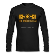 Мир плоских боксеров двигатель футболка с длинным рукавом Футболка мужская Горячая Атмосфера Хлопок Crewneck 3d футболки