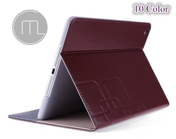 100% marca GUMI aire 1 del soporte del tirón PU cubierta de cuero para Apple iPAD aire inteligente caso de la cubierta con cubierta de la ranura para el iPAD 5