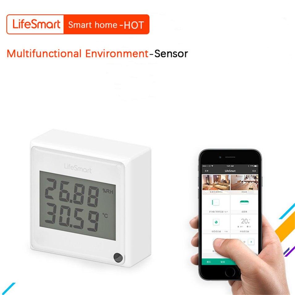 Lifesmart Smart Home Environment Multi Sensor Temperature Humidity Illumination Detector WiFi Remote Control By IOS Android