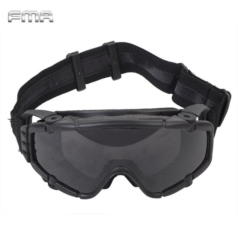 FMA Taktische SI-Ballistische Anti-Fog-Schutzbrille mit Fan - Sportbekleidung und Accessoires