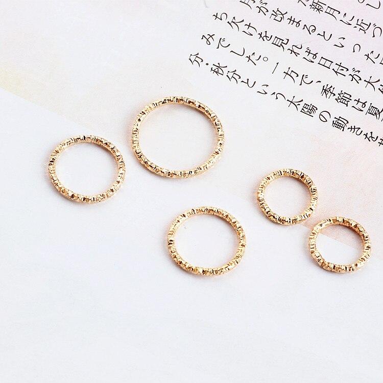DIY Handmade Jewelry Accessories Are Faceted Cut Iron Temperament Circle Earrings Earrings Pendant Earrings Materials