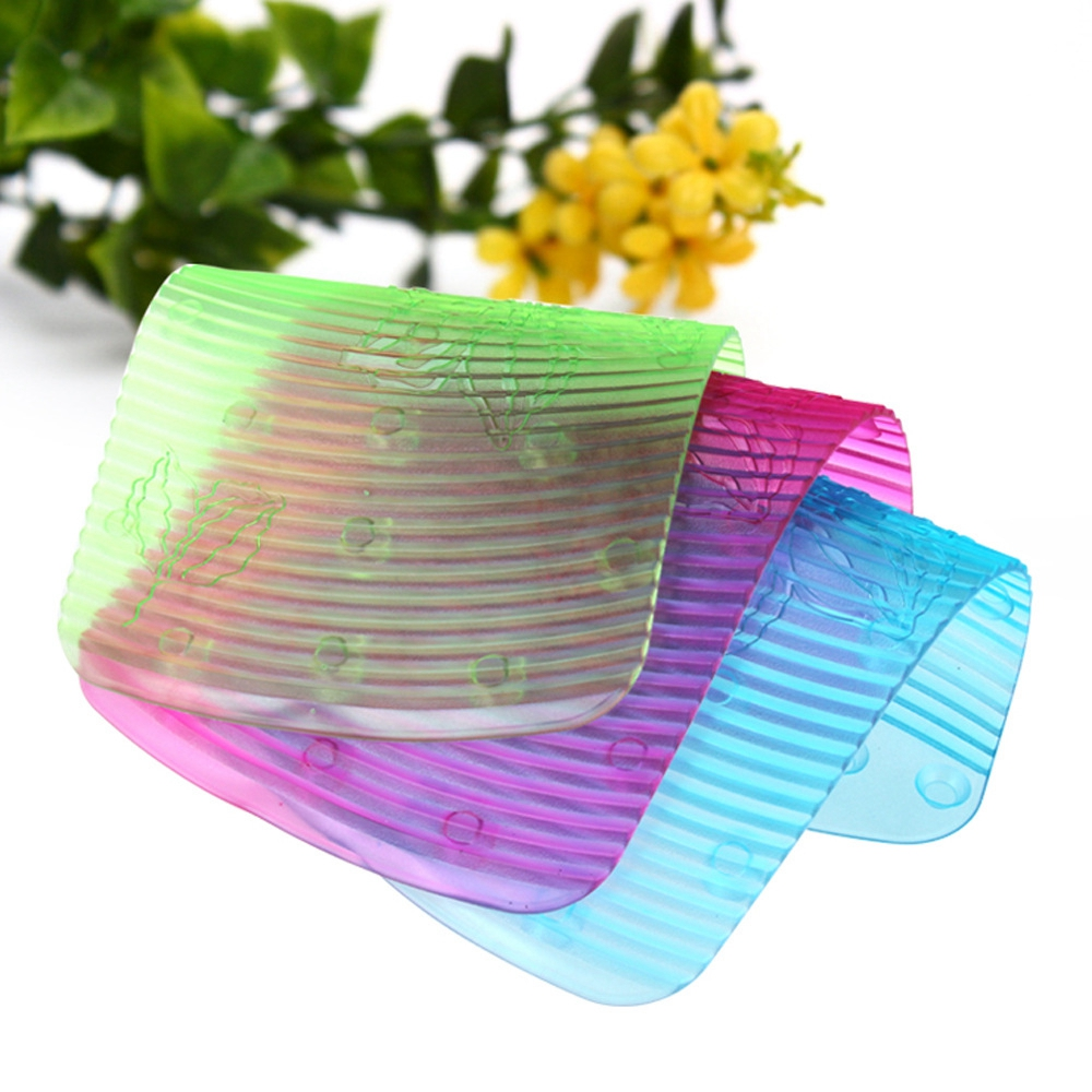 Colorful Mini Washboard Portable Bathroom Soft Plastic Laundry Washing Board