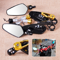 1 Pair 7 8 22mm Motorcycle Motorbike Bar End Side Rearview Mirrors Fit For Harley Yamaha