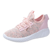 Women Casual Shoes 2019 Autumn Sneakers Fashion Breathable Mesh Platform White Soft Footwears