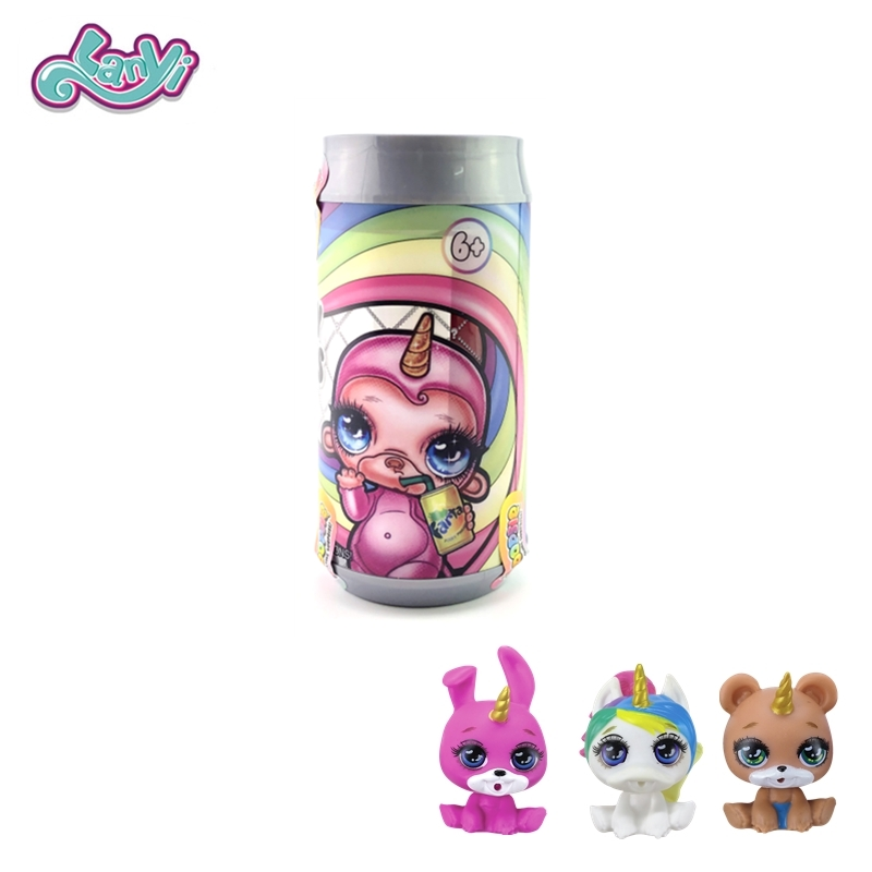 Lanyitoys Bottle Package Poopsie Surprise Squishy Size 3.1inch Magical Shake Slime Squish Smooshy Mushy Toys  For Girls Gifts