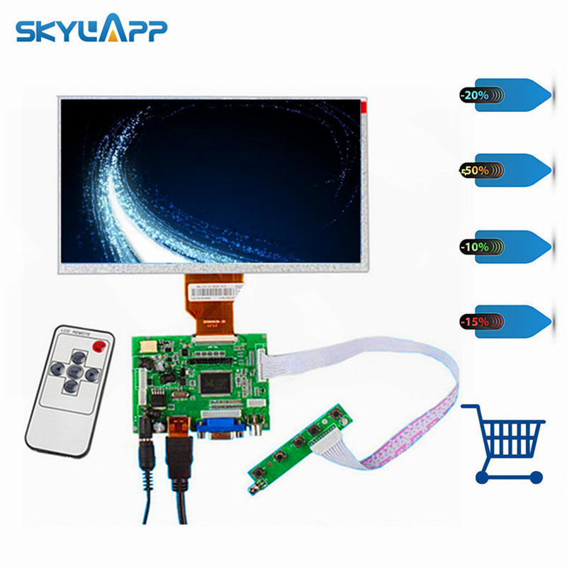 skylarpu 9 Inch for Raspberry Pi LCD Screen TFT Monitor AT090TN12 with HDMI VGA Input Driver Board Controller (without touch)