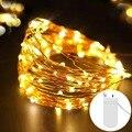 Фея 2 м 5 м Батарея батарейках светодиодный Медный провод гирлянды, отличный подарок на свадьбу, Рождество гирлянда для домашней вечеринки украшение лампы - фото