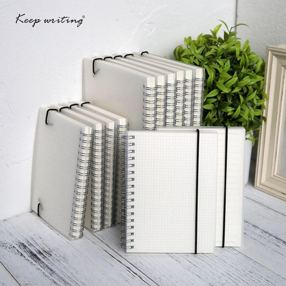 A5 A6 Espiral livro Notebook bobina de itens por-Fazer Forrado DOT Grade Em Branco Sketchbook Papel Jornal Diário Para Material Escolar loja de artigos de papelaria