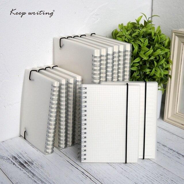 A5 A6 espiral libro bobina cuaderno a-¿De Punto rejilla en blanco de papel de diario cuaderno para la escuela suministros papelería