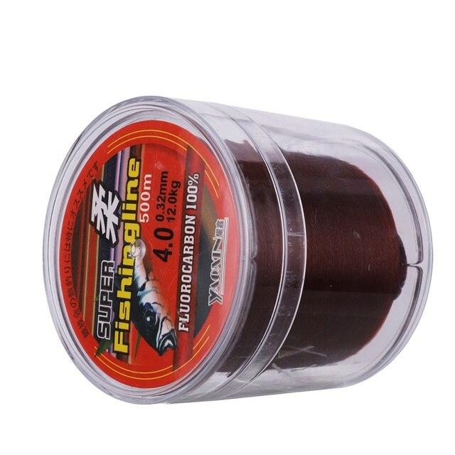 Nylonowa żyłka wędkarska brązowy pesca konkurencyjne wędkarskie krewetki dorady o wysokiej wytrzymałości na rozciąganie nylonowa nić 500 m sprzęt wędkarski akcesoria