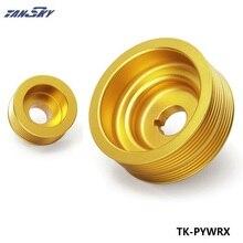Для SUBARU IMPREZA WRX 2,0 турбо алюминиевый легкий шкив двигателя золотой TK-PYWRX