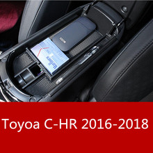 купить Car Central Console Armrest Box Storage Container Organizer Holder Case Tray For Toyota C-HR CHR 2016 2017 2018 Accessories дешево
