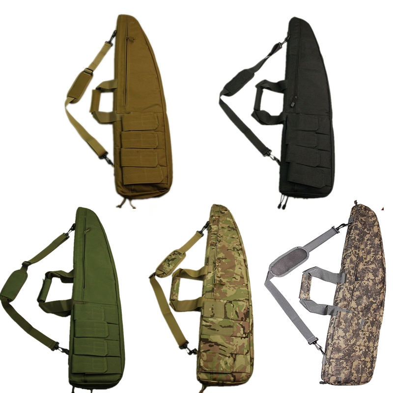 цена на 90cm-95cm Tactical Airsoft Rifle Bag Hunting Shooting Gun Case Army Military Gun packs Carbine Shotgun Cushion Padded Slip Bag