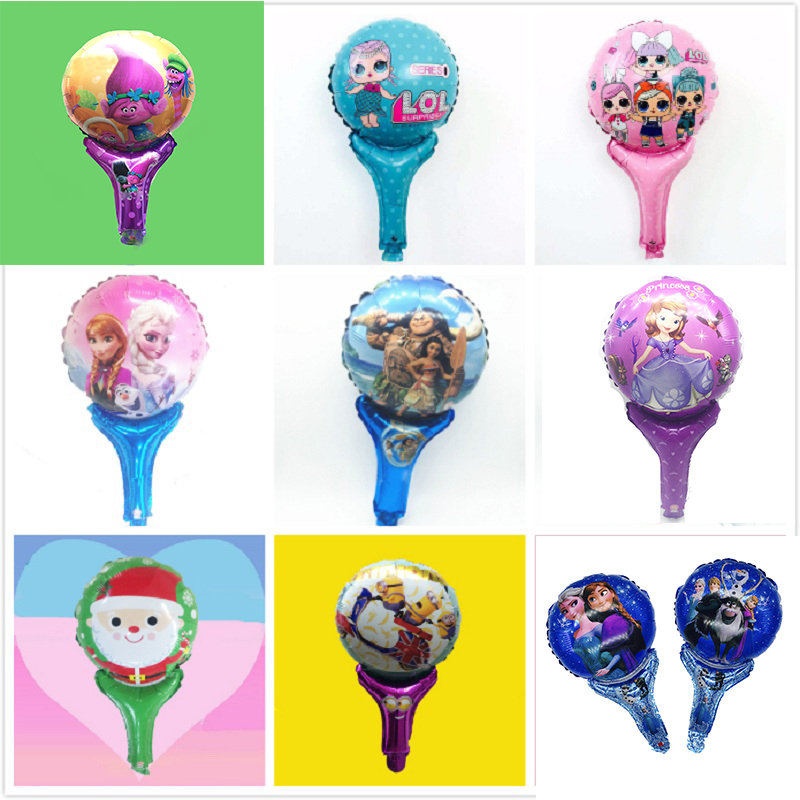 Hot Sale 50pcs/lot Cartoon Dog Trolls Moana Elsa Anna Party Foil Balloons Ballon Figure Toys For Christmas Birthday Party Gift