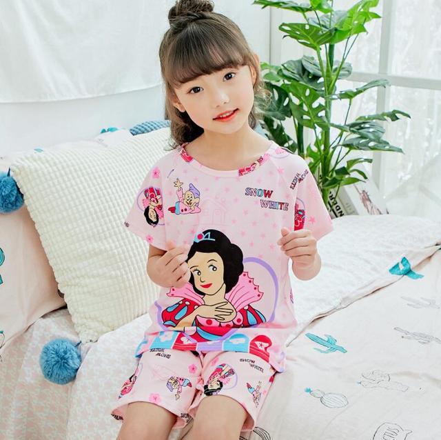 95fddbfeb Hot Sale Children Clothing Summer Nightwear Boys Girls Baby Pajamas Cotton  Princess Homewear Kids Home Cltohing Girl Sleepwear