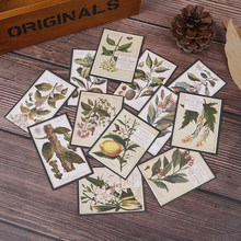 Retro plant English illustrated vintage ferns waterproof Decorative Sticker DIY Scrapbooking planner photo Sticker 12pcs(China)